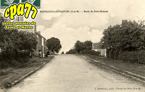 Montceaux Lès Provins - Route de Paris-Sézanne