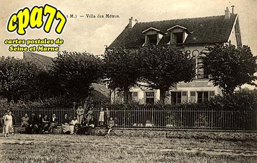 Montévrain - Villa des Métros