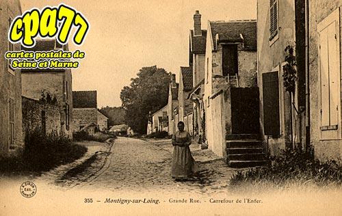 Montigny Sur Loing - Grande Rue - Carrefour de l'Enfer