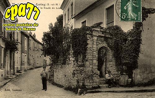 Montigny Sur Loing - Un Coin Pittoresque et la Route de Grez