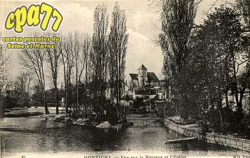 Montigny Sur Loing - Vue sur le Barrage et l'Eglise