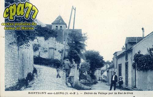 Montigny Sur Loing - Entrée du Village par la Rue de Grez