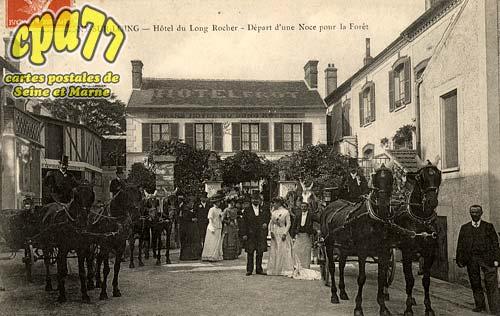 Montigny Sur Loing - Hôtel du Long Rocher - Départ d'une Noce pour la Forêt