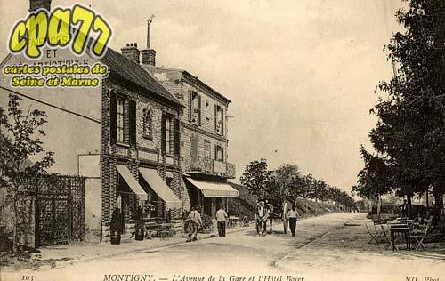 Montigny Sur Loing - L'Avenue de la Gare et l'Hôtel Boyer