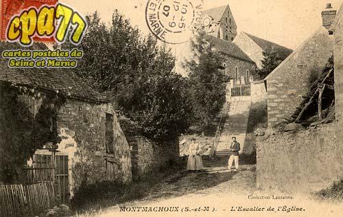Montmachoux - L'Escalier de l'Eglise