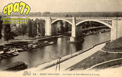 Moret Sur Loing - Le Viaduc de Saint-Mammès et le Loing