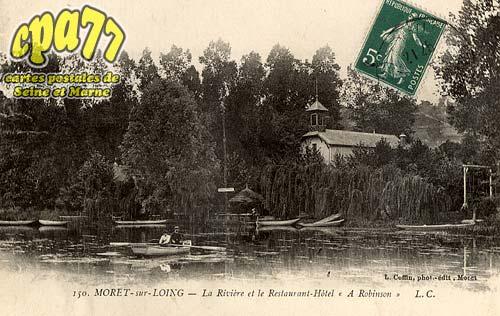 Moret Sur Loing - La Rivière et le Restaurant-Hôtel