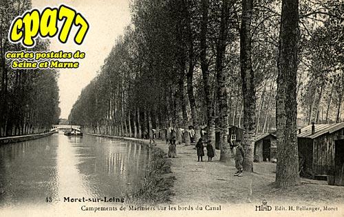 Moret Sur Loing - Campements de Mariniers sur les bords du Canal