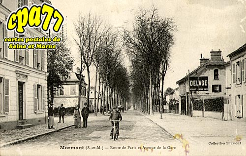 Mormant - Route de Paris et Avenue de la Gare