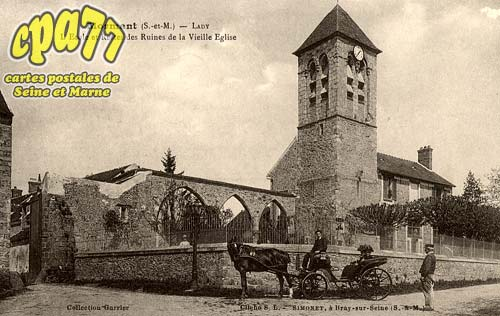 Mormant - Lady - L'Ecole et Restes des Ruines de la Vieille Eglise