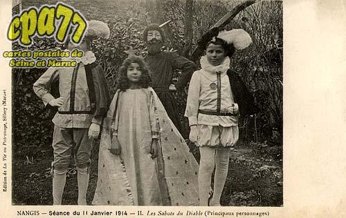 Nangis - Séance du 11 Janvier 1914 - II. Les Sabots du Diable (Principaux personnages)