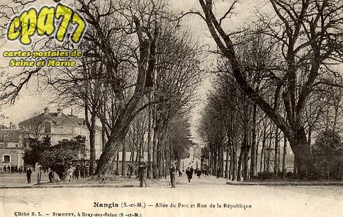 Nangis - Allée du Par cet Rue de la République