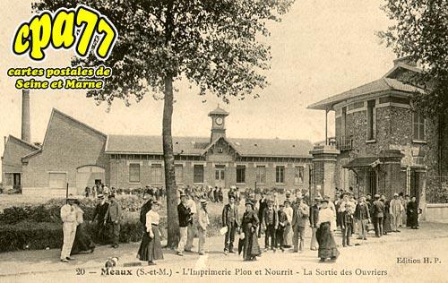 Nanteuil Lès Meaux - L'imprimerie Plon et Nourrit - La sortie des Ouvriers