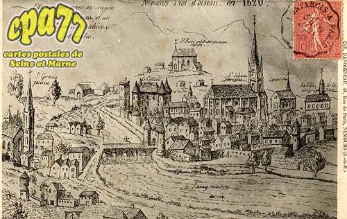 Nemours - Nemours, à vol d'oiseau en 1620