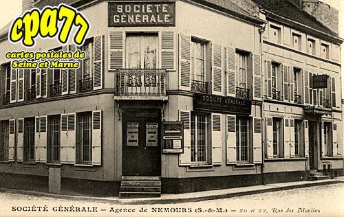Nemours - Agence Société Générale, 20 et 22, Rue des Moulins