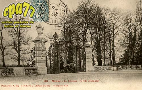 Noisiel - Le Château - Grille d'honneur