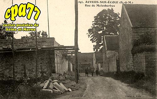 Noisy Sur école - Auvers - Rue de Malesherbes