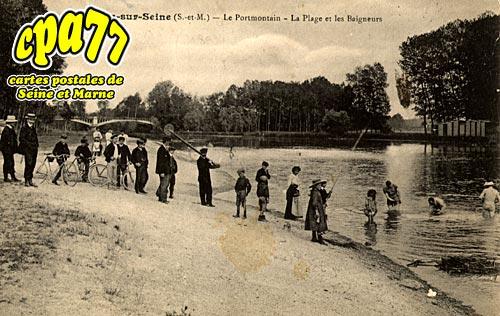Noyen Sur Seine - Le Portmontain - La Plage et las Baigneurs