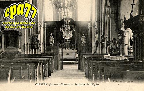 Oissery - Intérieur de l'Eglise