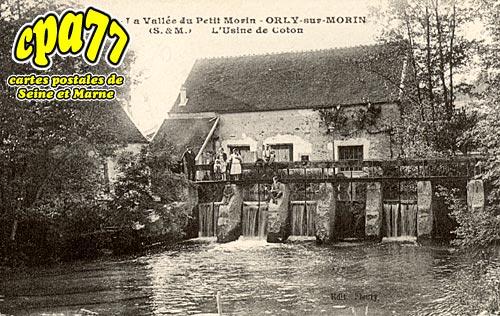 Orly Sur Morin - La vallée du Petit Morin - L'usine de coton
