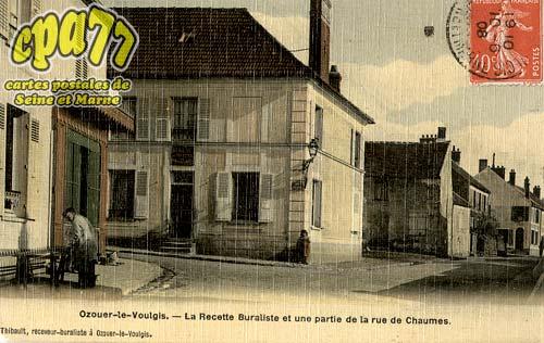 Ozouer Le Voulgis - La Recette Buraliste et une partie de la rue de chaumes