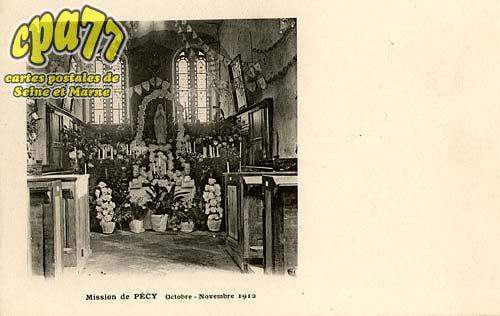 Pécy - Mission de Pécy - Octobre-Novembre 1912