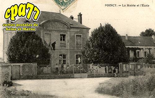 Poincy - La Mairie et l'Ecole