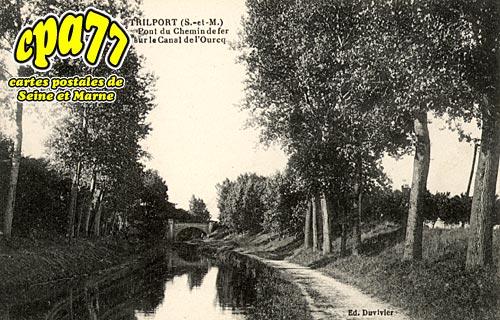 Poincy - Trilport - Pont du Chemin de fer sur le Canal de l'Ourcq
