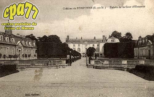 Pomponne - Château de Pomponne -  Entrée de la Cour d'Honneur