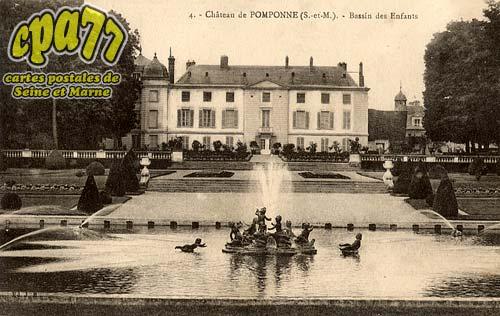 Pomponne - Château de Pomponne - Bassin des enfants
