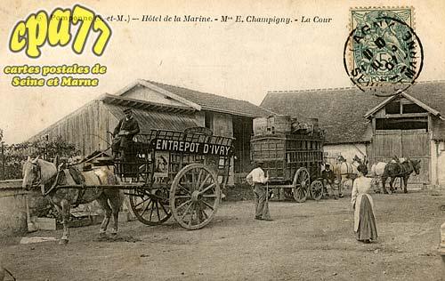 Pomponne - Hôtel de la Marine - Mon E. Champigny - La Cour