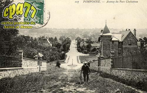 Pomponne - Avenue du Parc Chabaneau