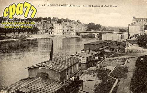 Pomponne - Bateau Lavoirs et Quai Bizeau