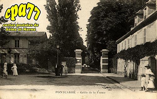 Pontcarré - Grille de la Ferme