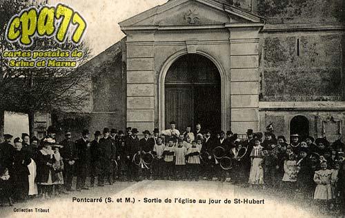 Pontcarré - Sortie de l'Eglise au jour de St-Hubert