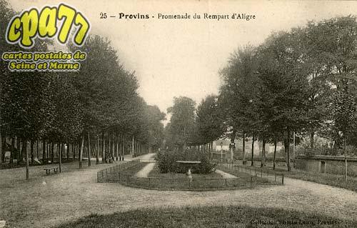 Provins - Premenade du Rempart d'Aligre
