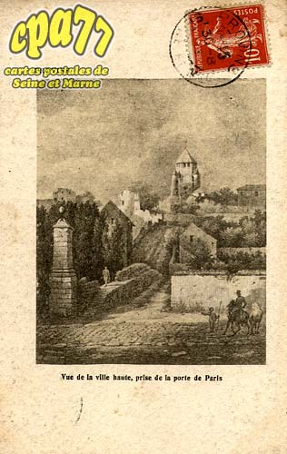 Provins - Vue de la ville haute, prise de la porte de Paris