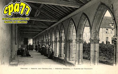 Provins - Abbaye des Cordeliers - Hôpital général - Cloître du Couchant