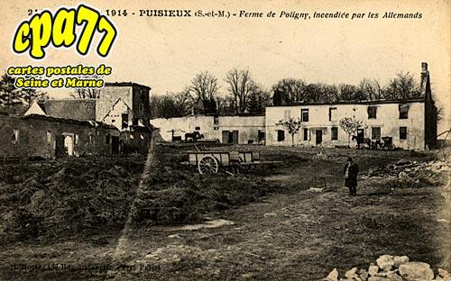 Puisieux - Guerre de 1914 - Ferme de Poligny, incendiée par les allemands