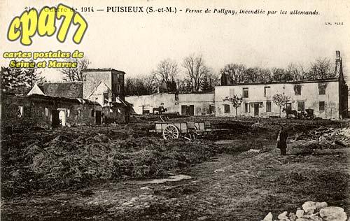 Puisieux - Guerre de 1914 - Puisieux - Ferme de Poligny, incendiée par les allemands