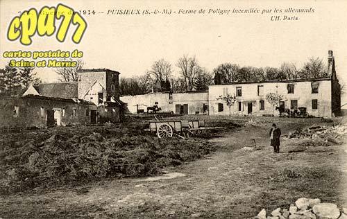 Puisieux - Guerre de 1914 - Puisieux - Ferme de Poligny incendiée par les allemands