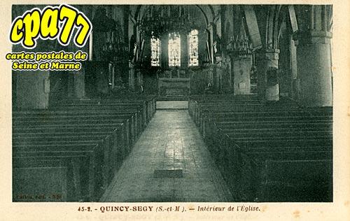 Quincy Voisins - Intérieur de l'Eglise