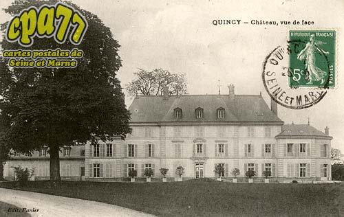 Quincy Voisins - Château, vue de face