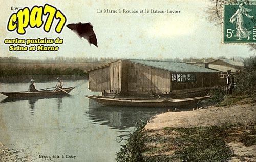 Quincy Voisins - La Marne à Rouaze et le Bateau-Lavoir (en l'état)