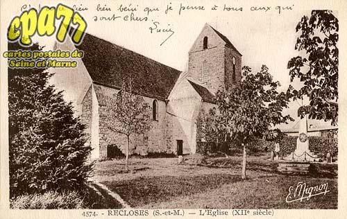 Recloses - L'Eglise (XIIe siècle)