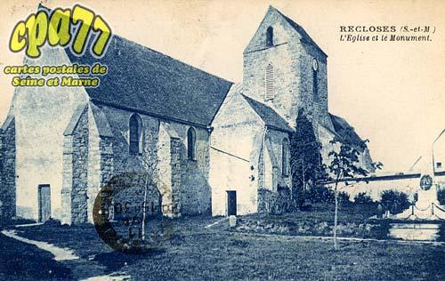 Recloses - L'Eglise et le Monument