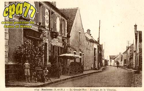 Recloses - La Grande-Rue - Auberge de la Glandée