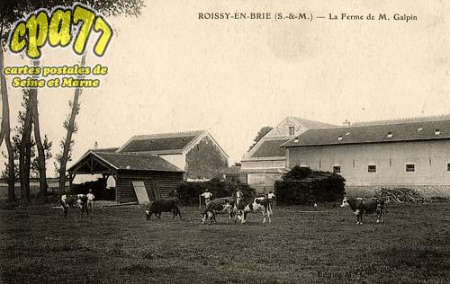 carte postale ancienne de roissy en brie 77 la ferme. Black Bedroom Furniture Sets. Home Design Ideas