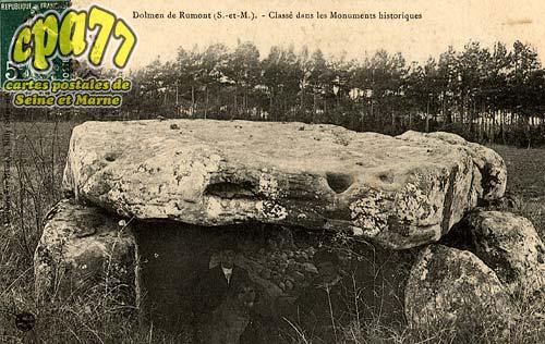 Rumont - Dolmen de Rumont (S.-et-M.) - Classé dans les Monuments historiques
