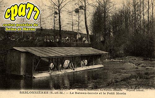 Sablonnières - Le Bateau-Lavoir et le Petit Morin